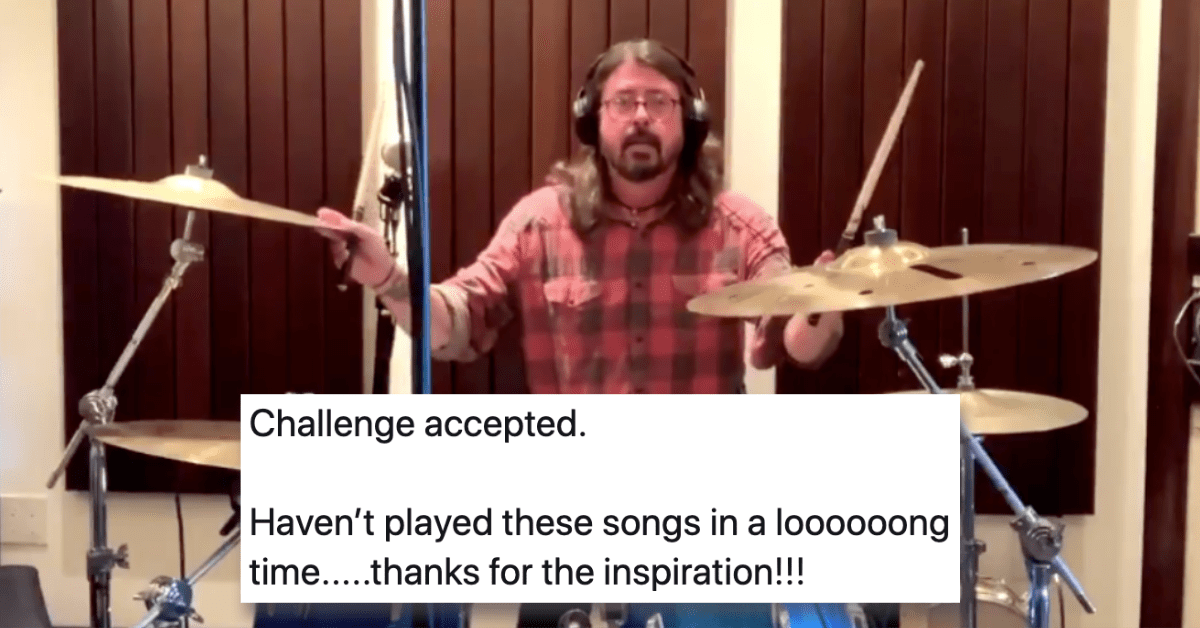 Dave Grohl Faced off in an Adorable Drum Battle With a 10-Year-Old
