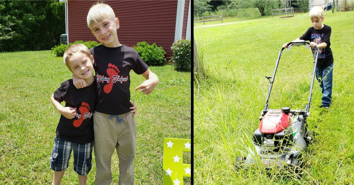 These Two Young Brothers Mow Lawns for Single Moms and First Responders and Feed the Hungry