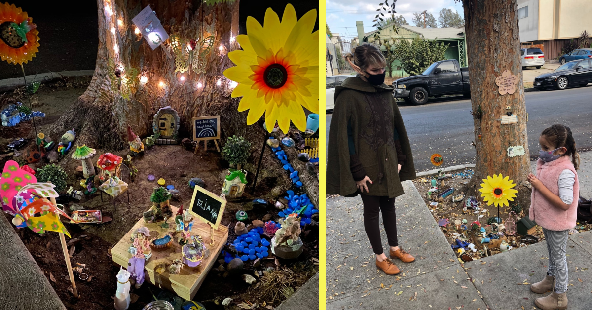 A Woman Created an Amazingly Fairy Experience for a Child in Her Neighborhood