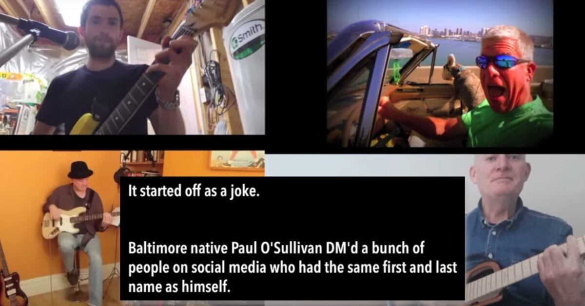 Four Strangers From Around the World Named Paul O'Sullivan Formed a Band