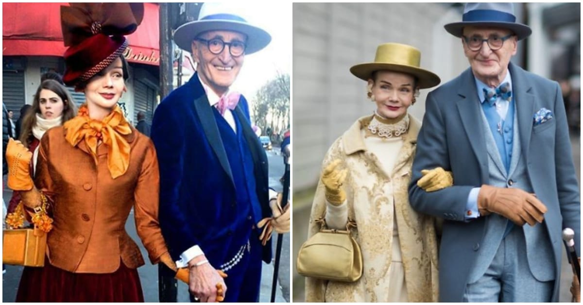 Stylish Elderly German Couple Steal The Show, Stay Young and Live Classy