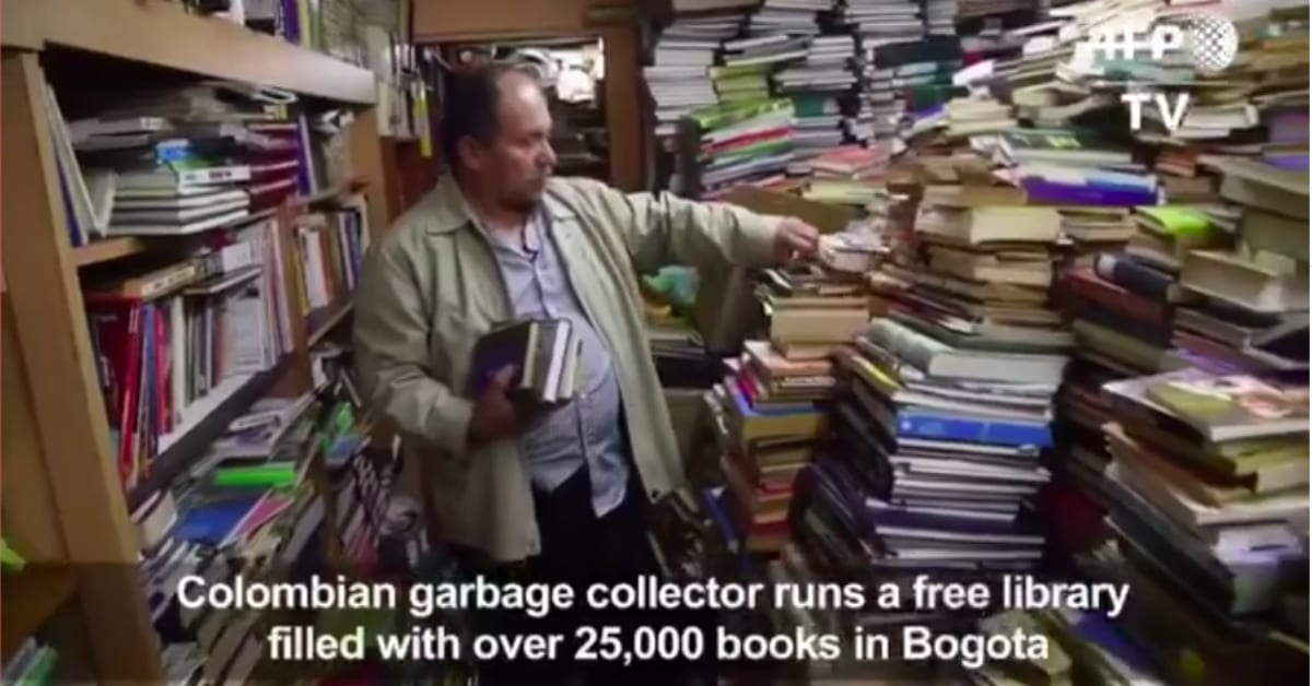Trash Collector Saves 25,000 Books from the Garbage and Helps Shape a More Literate Community